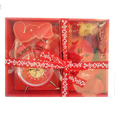 cute red teddy couple sitting and heart for valentine gift soft toy 23 cm