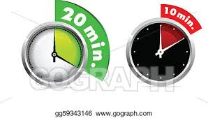 Vector Art 10 And 20 Minutes Timer Eps Clipart Gg59343146