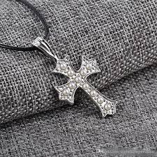 whole vintage tibetan antique silver plated rope chain punk celtic cross pendant necklace for men pearl necklaces women white gold necklace diamond