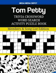 Tom Petty Trivia Crossword Word Search Activity Puzzle Book Members