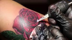 татуировка роза процесс мастер виталий валиахметов г оренбург