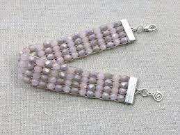 crystal bead loom bracelet tutorial