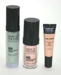 mufe hd green primer hd foundation full cover concealer