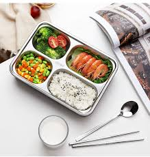 304 Stainless Steel <b>Lunch Box Bento</b> Boxs Leakproof Japanese ...