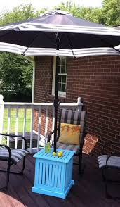 diy patio umbrella stand side table lime green outdoor umbrella