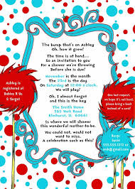 Online Invite Templates Extraordinary Cool FREE Template Doctor Seuss Baby Shower Invitation FREE Online