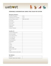 Pet Sitter Information Sheet Printable Free Check Out This Great
