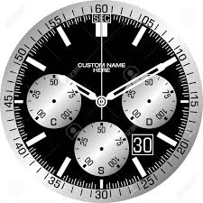 Watch Dial Design Template Vector Template For A Customisable Smart Watch Face