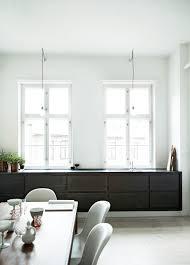 minimalist dark wooden kitchen