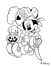 Coloriage D Halloween Mickey Et Son Lampion En Citrouille