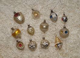 12 Antique Miniature German Lauscha Glass Ornaments 6967