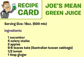 Joe's Mean Green Recipe Card