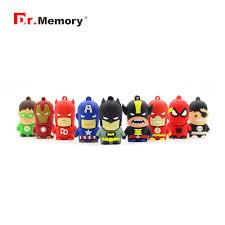 <b>Cartoon Flash Drive Superhero</b> Memory USB Car Cute Pendrive ...