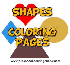 We live in a colorful world! Kids Shapes Coloring Pages Patterns Preschool Learning Online Lesson Plans Worksheets