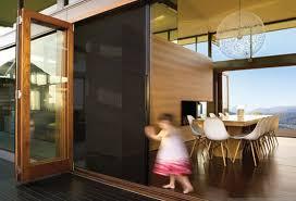 Folding patio doors with screens Panoramic Eco Screen System Riviera Doors Windows Riviera Doorwalls Options