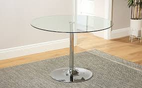 glass 110cm dining table