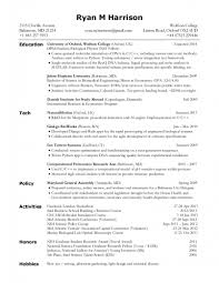 Computer Science Resume Mit Template Latex Templates Curricula