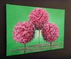 cherry blossoms 5 x 7 original oil painting