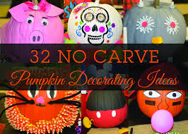 No Carve Pumpkin Decorating Designs 100 No Carve Pumpkin Decorating Ideas 2