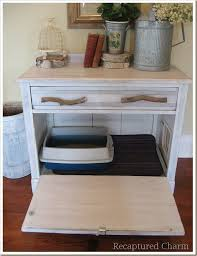 weekend diy project turn an old cabinet into a kitty loo homejelly with cat litter box design 19