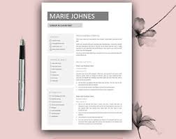 Teacher Resume Template Cv Template For Ms Word Professional