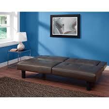 Kittles Bedroom Furniture Mainstays Connectrix Faux Leather Futon Multiple Colors Walmartcom