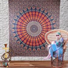 top ing peacock mandala tapestry wall hanging indian mandala wall art jaipur handloom x best photo gallery for website indian wall art