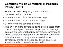 components of commercial package policy cpp