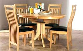 expandable round dining room table set expanding oak extending with bench
