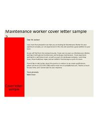 Maintenance Resume Cover Letter Cover Letter Sample Resume for Building Maintenance Worker Sample 85