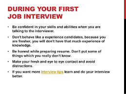 How To Handle Your First Interview