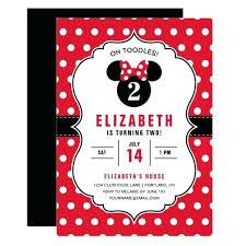 Minnie Mouse Birthday Invitations 1st Free Invitation Template