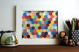 diy hexagon framed art