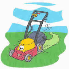 Image result for cartoon lawn mower