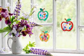 Fensterbild Leuchtende äpfel Basteln Familiede