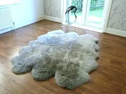 grey faux fur rug sheepskin vole large rugs new 2 designing extra fake area size of
