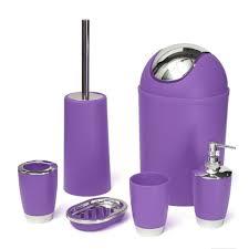 Purple Bathroom Bin Bathroom Accessories Toothbrush Holder