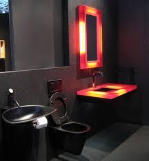 Dark Red Bathroom Rustic Brown Tile Floor Black And Red Bathroom For Retro Looks