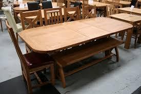 country oak 1 8 2 3m cross leg oval end american oak dining table just 599