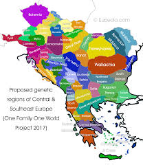 proposed genetic divisions of central and southeast europe one family one world dna project