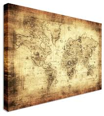 >displaying gallery of world map wall artwork view 13 of 20 photos  wall arts vintage london map wall art old world map art canvas with most popular