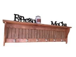 wall coat rack 48 wide shelf with