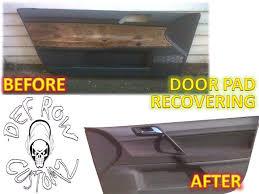 car door panel recovered like original