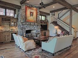 living room dazzling country style living room with reclaimed wood and stone fireplace also high