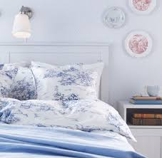 ikea emmie land blue white toile twin duvet cover french 18th century ikea