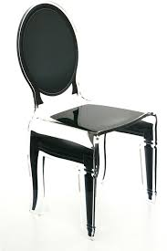 acrylic dining chair clear french style image 2