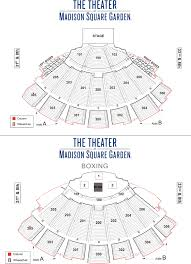 madison square garden seating chart detailed seat numbers theater