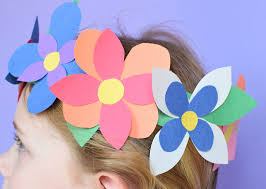 Paper Flower Headbands Flower Crown Spring Craft What Can We Do With Paper And Glue