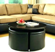 fashionable round coffee table with storage round coffee table with storage coffee table storage ottoman round