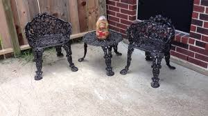 diy old rusty patio furniture sprayed with rustoleum spray paint you